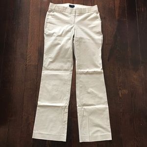 J. Crew City Fit Khaki Dress Work Pants sz 2